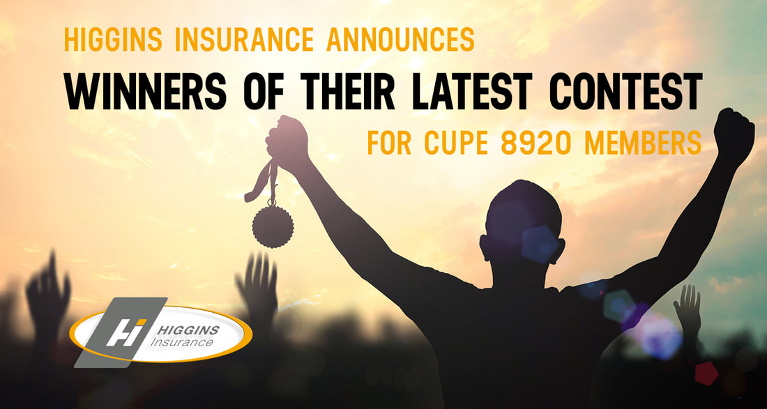 Higgins Insurance Announces Winners of Their Latest Contest for CUPE 8920 Members